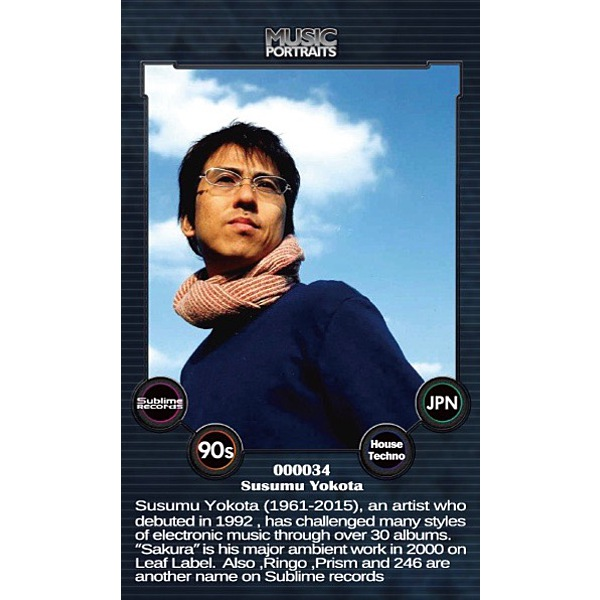 Music Portraits Card #0034 Susumu Yokota